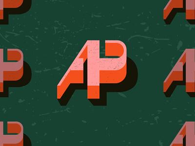 A+P Monogram logomark illustration app classic branding design monogram logodesign logo vintage