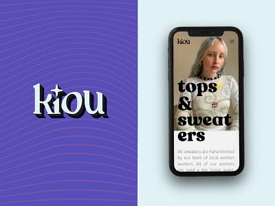Kiou clothing store wordmark branding design wordmark logo logotype