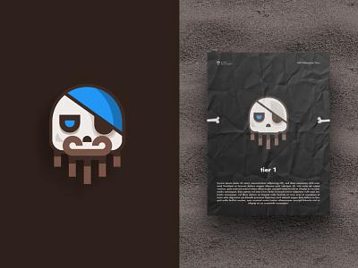 Pirate Skull logo skull visual identity illustration logodesign gaming game branding pirate logo