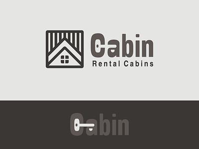 Cabin rental design vector monogram logodesign branding rental house woods cabin logo