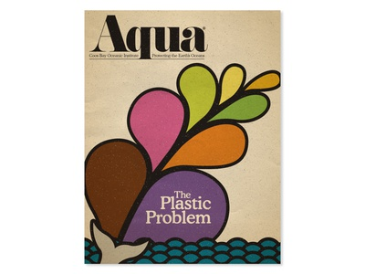 Aqua digital butterfly project cover design magazine layout marks and logos type treatment logotype type design typography deep texture oceans oceanography flat illustration publication design digital illustration cover illustration magazine cover magazine illustration magazine design