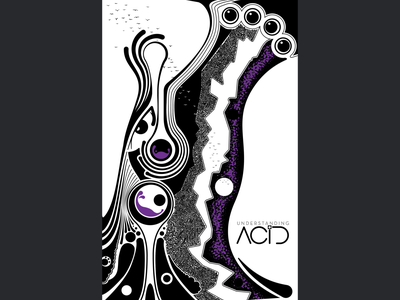Understanding Acid digital butterfly project low color vector illustration magazine cover trippy psychedelic illustration cover illustration digital illustration