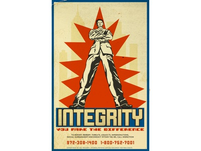 Integrity: Poster for the IRS sachplakat retro poster poster design plakatstil illustration flat illustration flat design digital illustration art deco