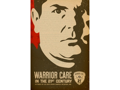 Warrior Care in the 21st Century Poster II warfighter digital butterfly project retro poster veterans warrior poster illustration plakatstil event poster