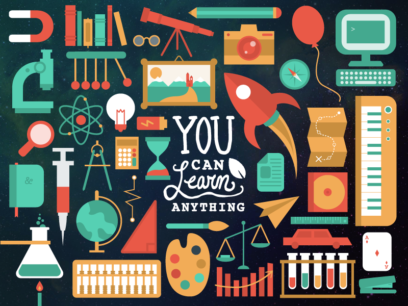 Khan Academy: You Can Learn Anything by Elizabeth Lin on Dribbble