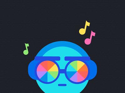 DJ Monster 🎵 🌈 sunnies sunglasses rainbow monster music dj monsterz