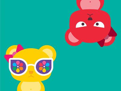 Bears 🐻 cool bow sunnies sunglasses illustration bears