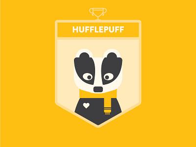 Hogwarts: House Hufflepuff illustration badger harry potter hogwarts hufflepuff crest badge