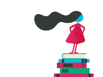 2. Take a stand khan academy hair stand books girl woman illustration cultural values