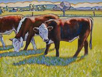 "Prairie Lunch, 10"" x 8"", oil on canvas"