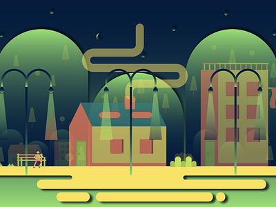 Night Life vector design illustration