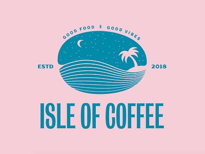 Isle of Coffee Logo Exploration brand identity branding tropical coffee logo brand