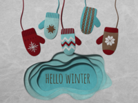 Holiday Paper Cut Series - Mittens