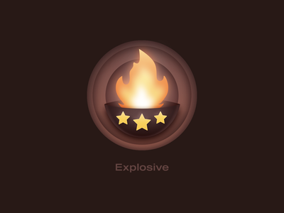 UpLabs - Explosive Badge stars progress goal achievement fire explosive icon badge