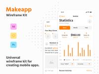 Makeapp Wireframe Kit