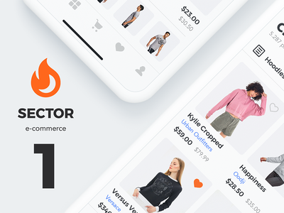 Sector UI Kit. E-commerce