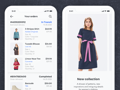 Sector UI Kit. E-commerce ui kits e-commerce app e-commerce sketch templates digital goods prototyping