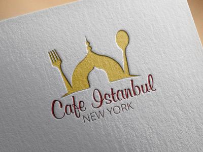 Cafe Istanbul - Turkish Cuisine Cafe turkish logo food logo logo cafe logo restaurant logo