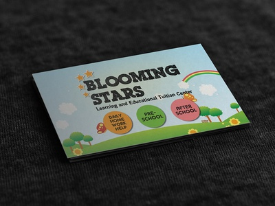 Blooming Star business card design branding flyer design flyer business card