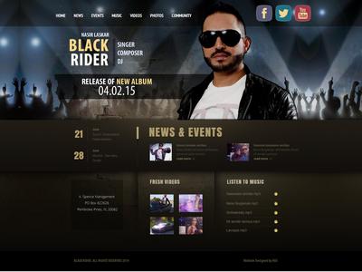 Black Rider dailyui user interface website design dj website singer website music website