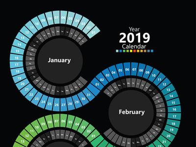 Spectrum Calendar print print calendar calendar design calendar 2019 spectrum calendar calendar