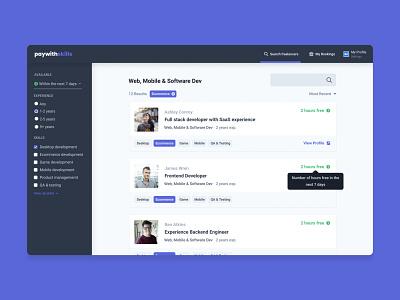 paywithskills | dashboard ux london ui designer uidesigner feed ui desktop ui design design uidesign