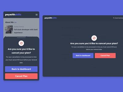 paywithskills | modal modals modal window modal mobile ux london ui designer uidesigner desktop ui design ui design uidesign