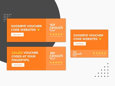 Pouch | Display Ads creative designer creative design design display ads display banner banner ads banner ad adsense ads