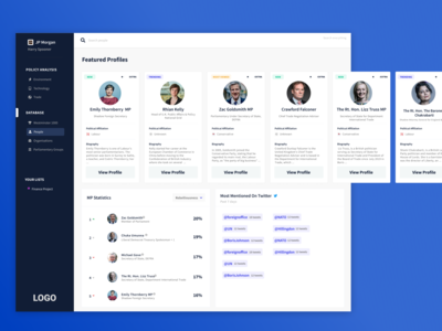 Political Intelligence Platform | Dashboard UI