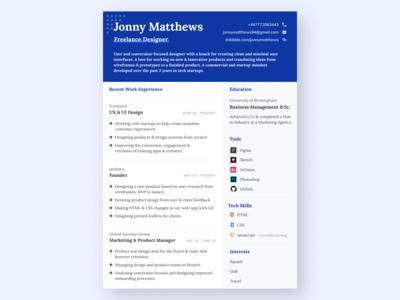 CV | Freelance Design