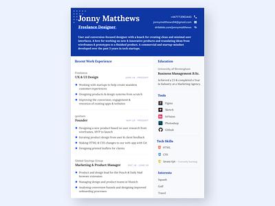 CV | Freelance Design freelancer designer freelance design feed linkedin experience london freelance ui design uidesign paper print layout resume cv resume