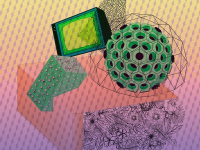 Geomorphology future techofossil anthropocene graphic design illustration