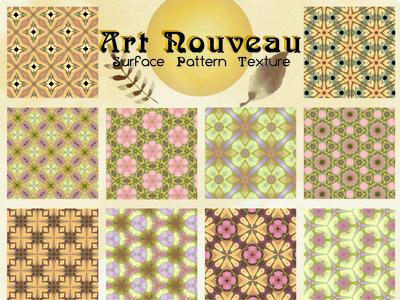 Art Nouveau Surface Pattern Texture