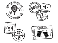 Society of Beer Travelers stamps