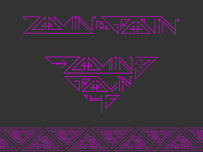 Zoomin to the Groovin H3 typography tribal rave groove zoom vector illustration design lettering typography