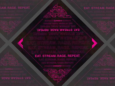 Zoomin to the Groovin Bandana virtual zoom djs edm rave hanky bandana lettering design illustration typography