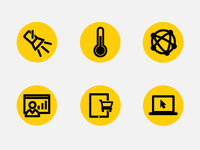 Black and Yellow Icons