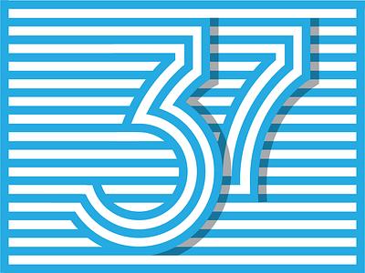 Dribbble 37 Illustration Alt stripes 37 numbers lettering typography