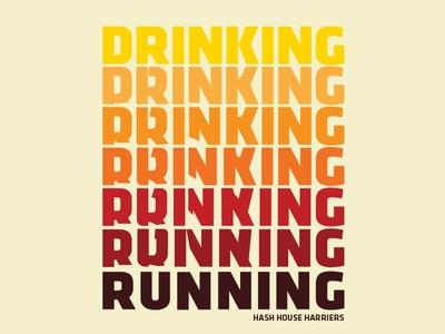 Drink Running Type Sketch