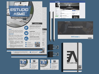 Identidad Estudio ASME fan page website logo mark branding