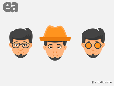 illustrations  alexismayescobar avatar icons avatars icon advertising illustration website vector design mark branding typography logo designer graphic designer