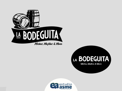 La Bodegita ¡2 propuestas! diseñador grafico web afiche shop design mock up ux icon advertising illustration estudio asme website vector design mark branding typography logo designer graphic designer