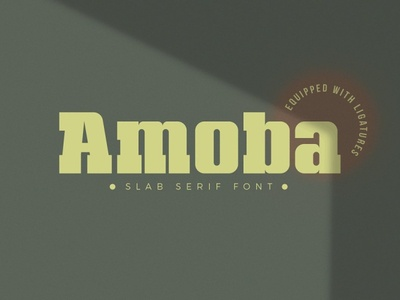 Amoba Free Font typography font free download free font download