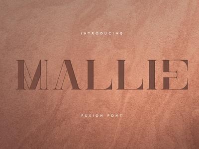 Mallie Free Font serif design typography font free download free font download