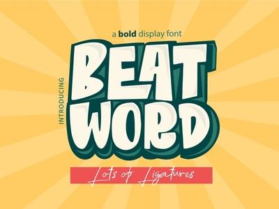 Beat Word Free Font display big font free typography download free font download
