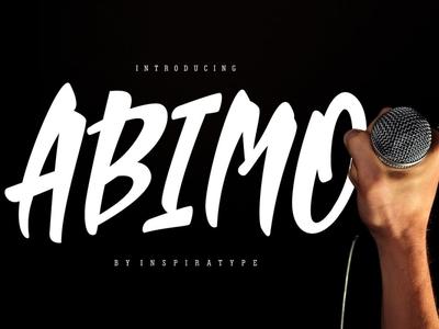 Abimo Free Font logo handwritten font script handwritten typography font free download free font download