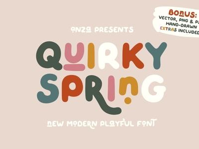 QUIRKY SPRING Free Font script logo design typography font free download free font download