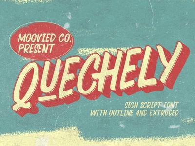 Quechely Sign Retro Free Font script font free typography download free font download