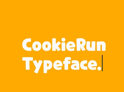 CookieRun Free Font font free typography download free font download