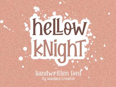 Hellow Knight Free Handwritten Font handwritten font handwritten font free download free font download
